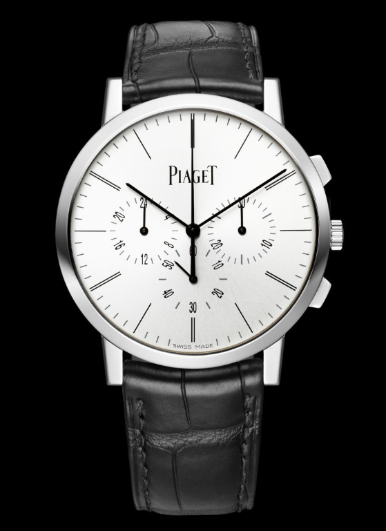 Elegant Piaget Altiplano Chronograph Fake Watches With White Gold Cases