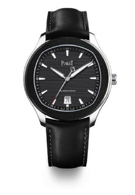 The Piaget Polo S Automatic 42mm stainless steel and leather watch for ,900 on Mr Porter
